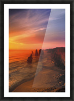 Sunset And Rock Formations Picture Frame print