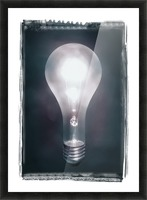 Light Bulb Picture Frame print