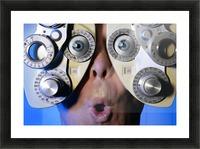 Eye Exam Picture Frame print