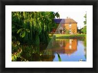 Fish pond Seckington Picture Frame print