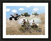 Art   tefilin army tank  AAA. Picture Frame print