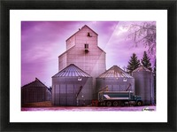The Magenta Silos Picture Frame print