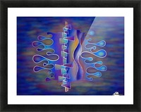 Grafenonci V5 - abstract butterfly Picture Frame print