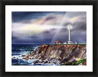 Lighthouse Point Arena At Night Picture Frame print
