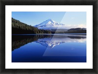Trillium Lake With Reflection Of Mount Hood, Mount Hood National Forest Picture Frame print