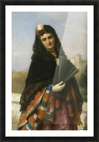 Spanish lady with a fan Picture Frame print