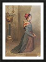 Kneeling to prayer Picture Frame print