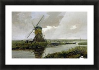 Landscape with a mill Picture Frame print