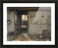 Doorkijkje in het onderhuis van Weissenbruch's woning in Den Haag Picture Frame print