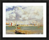 Ships in the harbour Picture Frame print