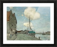 A Waterway near Haarlem Picture Frame print