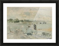 Landscape with cows and trees Picture Frame print
