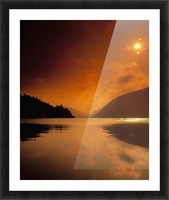 Glenveagh Castle And Lough Veagh, Glenveagh National Park, Co Donegal, Ireland Picture Frame print