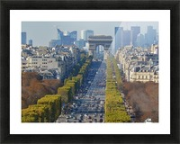 Arc d'Triompe up the Champs Elysees Picture Frame print