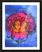 that kiss Picture Frame print