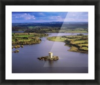 Cloughoughter Castle, Co Cavan, Ireland; Aerial View Of Lough Oughter And 13Th Century Castle Built On The Possible Site Of A Crannog Picture Frame print