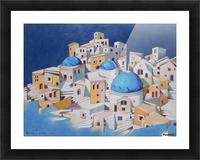 Memory of Santorini Picture Frame print
