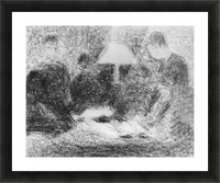 Family evening by Seurat Picture Frame print