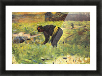 Farmer at work by Seurat Picture Frame print