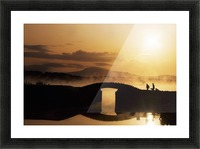 Killarney Golf Course, Co Kerry, Ireland; Silhouetted Golfers Picture Frame print