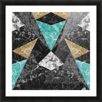 Marble Geometric Background G430 Picture Frame print