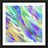 Colorful digital art splashing G401 Picture Frame print