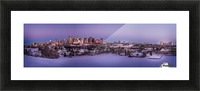Panoramic City Landscape Picture Frame print