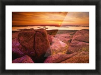 View From Cadillac Mountain At Sunrise, Acadia National Park, Maine, U.S.A Picture Frame print