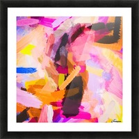 pink purple yellow brown painting texture abstract background Picture Frame print