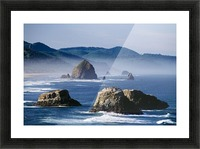Haystack Rock, The Needles And Sea Stacks, Cannon Beach, Oregon, United States Of America Picture Frame print
