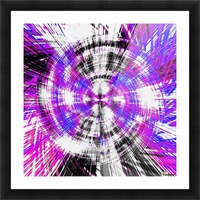 geometric pink blue purple and black circle plaid pattern with white background Picture Frame print