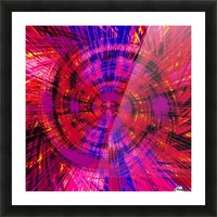 geometric red blue pink and yellow circle plaid pattern abstract background Picture Frame print