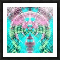 geometric pink blue and green circle plaid pattern abstract background Picture Frame print