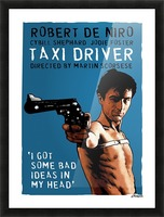 Taxi Driver Picture Frame print