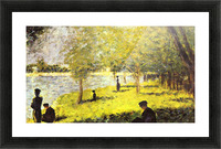 Group of people by Seurat Picture Frame print