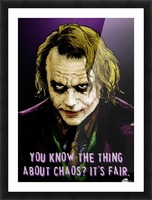 The Joker Says Picture Frame print