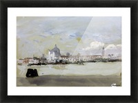 A grey day in Venice Picture Frame print