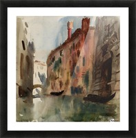 Side Canal, Venice Picture Frame print