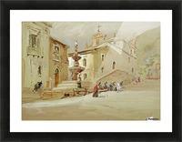 The Fountain, Taormina Picture Frame print