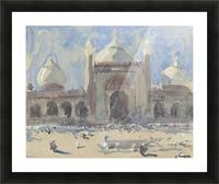Entrance to the Jama Masjid, Delhi Picture Frame print