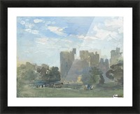 A moated castle Picture Frame print