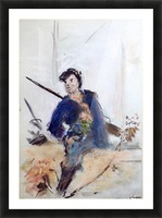 Study of a French soldier Picture Frame print