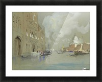 View of Venice along a canal Picture Frame print