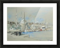 Suleymaniye Mosque with the Sultanahmet Mosque beyond, on the Golden Horn Picture Frame print