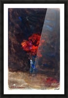 Red flowers in a blue vase Picture Frame print