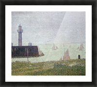 Harbor in Honfleur 2 by Seurat Picture Frame print