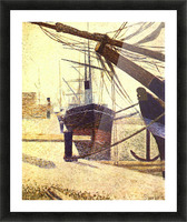 Harbor in Honfleur by Seurat Picture Frame print