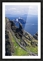 Stone Stairway, Skellig Michael, Skellig Islands, County Kerry, Ireland Picture Frame print