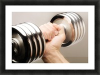 Lifting Weights Picture Frame print