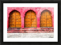 Doors of the Pink City  Picture Frame print